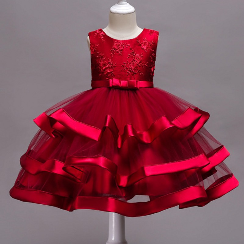 Foute Kersttrui Ah.Big Girl Party Princess Dress Tulle First Communion Dresses For