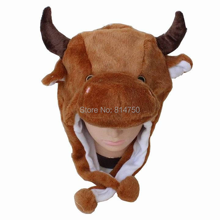 MODA CUBE Fun Plush Animal Bull Cow Boy Baby Girl Costume Cosplay Winter Hat Cap-in Hats u0026 Caps from Mother u0026 Kids on Aliexpress.com | Alibaba Group  sc 1 st  AliExpress.com & MODA CUBE Fun Plush Animal Bull Cow Boy Baby Girl Costume Cosplay ...