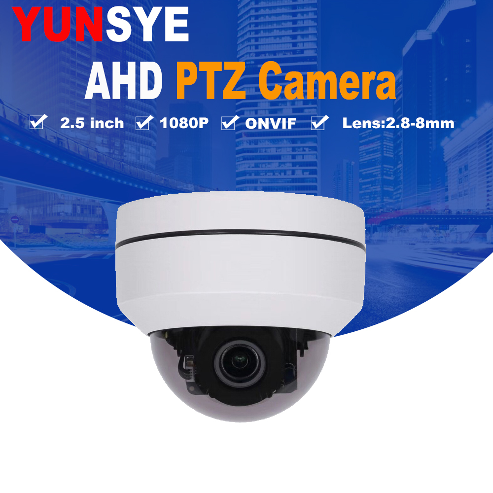 NOVA 3X 2 lnch mini speed dome câmera ptz zoom 2.8-8 milímetros AHD ptz 2.0mp Rede Mini Velocidade câmera Dome AHD 1080 p Mini câmera PTZ Speed Dome