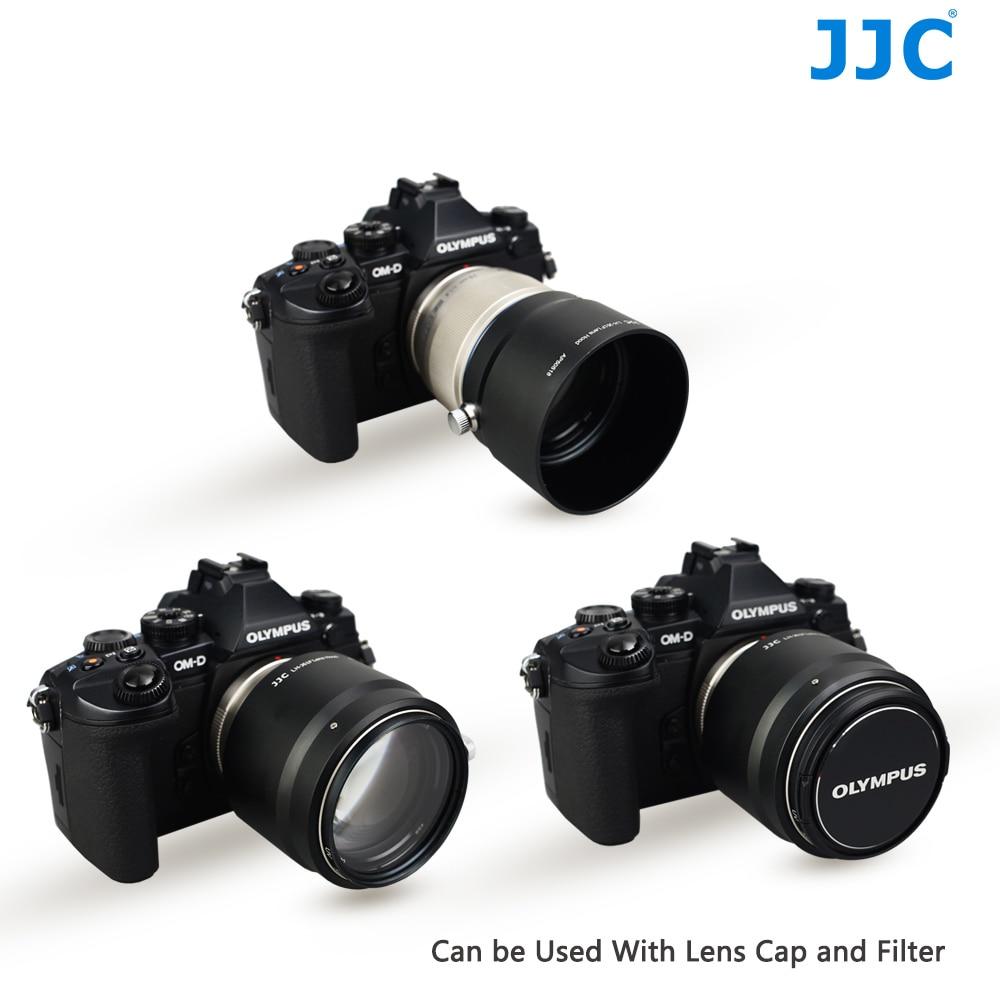 JJC Metal Lens Hood 58mm Protector for OLYMPUS M ZUIKO DIGITAL ED 75mm F1 8 replaces