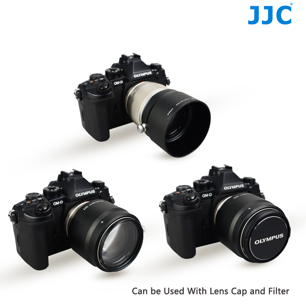 JJC Metal Lens Hood 58mm Protector for OLYMPUS M.ZUIKO DIGITAL ED 75mm F1.8 replaces LH-61F jjc jjc lh w65b