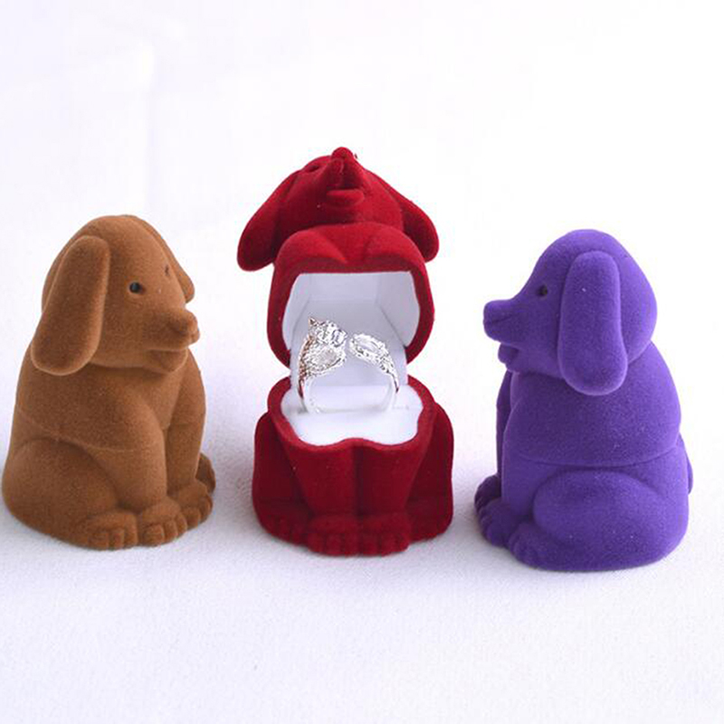 Storage-Box Role Cartoon Ring-Earrings Jewelry Dog-Flocking-Box Is Ofing Tasted Bride-Act