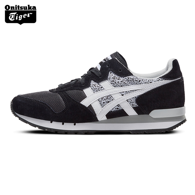 5fa47c1a9dbe5 Onitsuka Tiger Vintage Casual Shoes for Women Outdoor Comfortable Classic  Black White Sneakers Badminton Shoes ALVARADO D859L