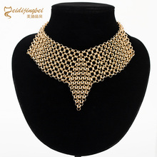 Fashion Collar Necklace Gold Silver Plated Maxi Metal Chain Necklace Women Arrow V Chocker Necklace Jewelry