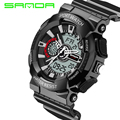 2016 New Waterproof Casual Watch Digital Analog Male Clock Hours Sports Watches Men Military Sports LED Quartz Wristwatches