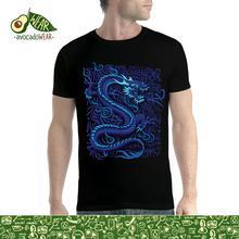 Blue Dragon Men T-shirt XS-5XL NewStreetwear Funny Print Clothing Hip-Tope Mans T-Shirt Tops Tees Fashion Summer Paried Tshirts