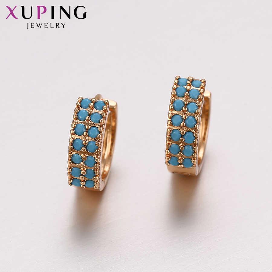 Xuping Fashion Anting-Anting Warna Emas Berlapis untuk Wanita Thanksgiving Day Hadiah Perhiasan S58-93384