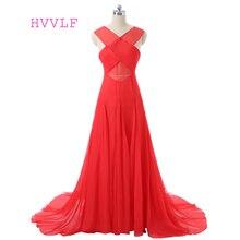 See Through 2018 Formal Celebrity Dresses A-line Deep V-neck Chiffon Backless Long Evening Dresses Famous Red Carpet Dresses