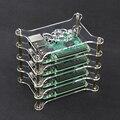 Горячая 4-слойная Прозрачный Акриловый Чехол Прозрачный Raspberry pi 3 Box Shell с логотип для Raspberry Pi 2 Модель B & Raspberry Pi B плюс