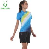 New Sportswear Quick Dry breathable badminton shirt Women table tennis shirt clothes team game short sleeve T Shirts Shorts