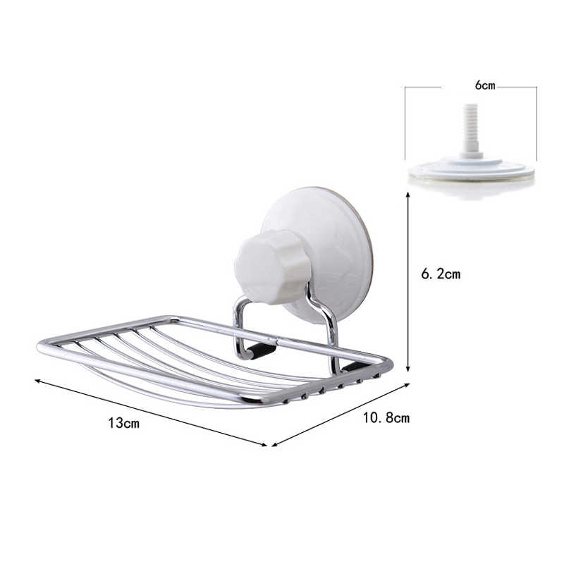 Stainless Steel Wall-mount Strong Vacuum Suction Cup Soap Dish Holder Rack UYT Shop