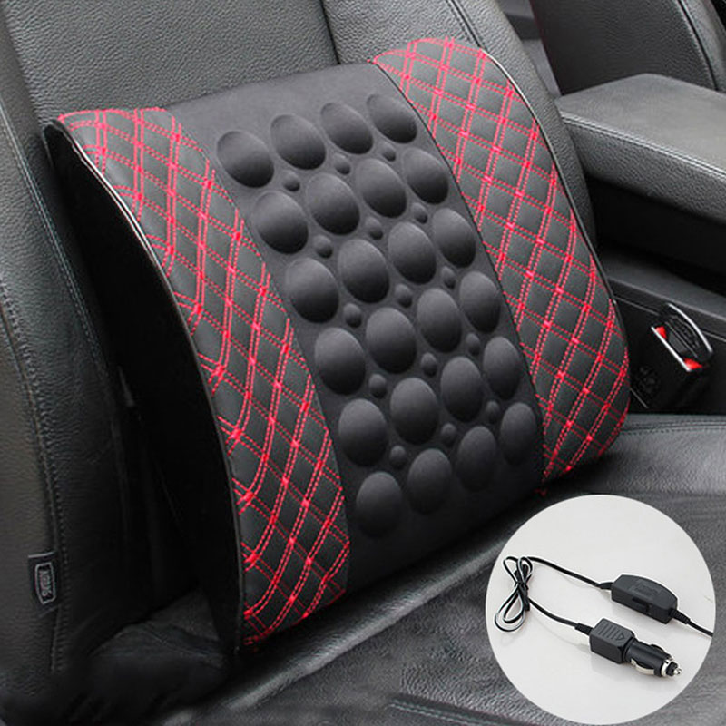 1pc Electric massage Lumbar cushion Car waist cushion For Car Memory Foam Office Seat Support Rest Back Pillow Chair Waist Sofa coccyx pillow tailbone pain cushion seat memory foam pillow for pain relief 2018 design car seat cushion office travel