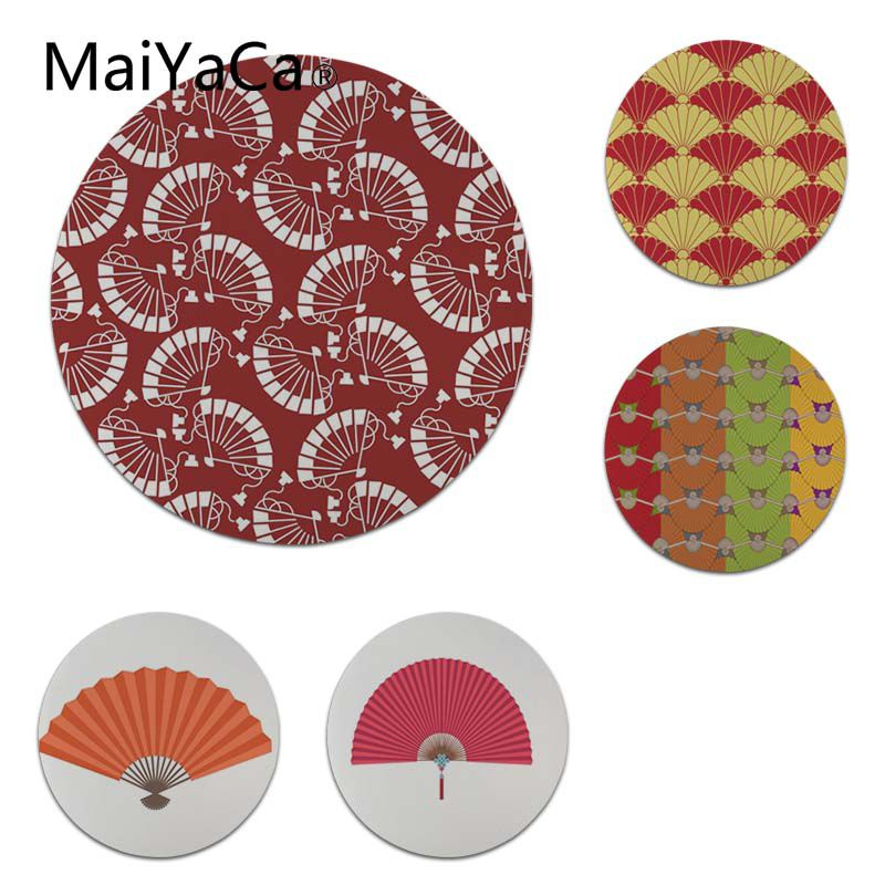 MaiYaCa New Arrivals Fan Pendant Round Mouse pad PC Computer mat Size for 200x200x2mm and 220x220x2mm Cool Mouse Pads