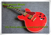 Hot Selling Red Color ES 335 Guitar Jazz Hollow Body Style 5-way Switch In Stock