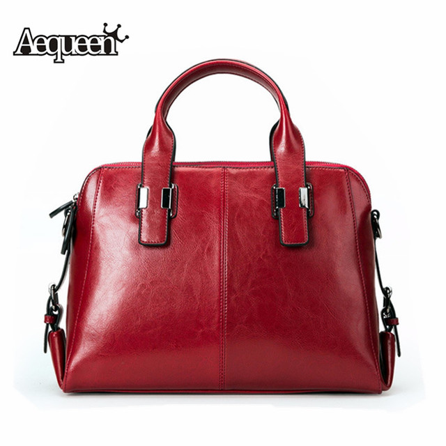 42429724407c AEQUEEN Luxury Brand Women Cow Leather Handbag Genuine Leather Casual Tote  Bags Female Big Shoulder Hand Bag Feminina Bolsa