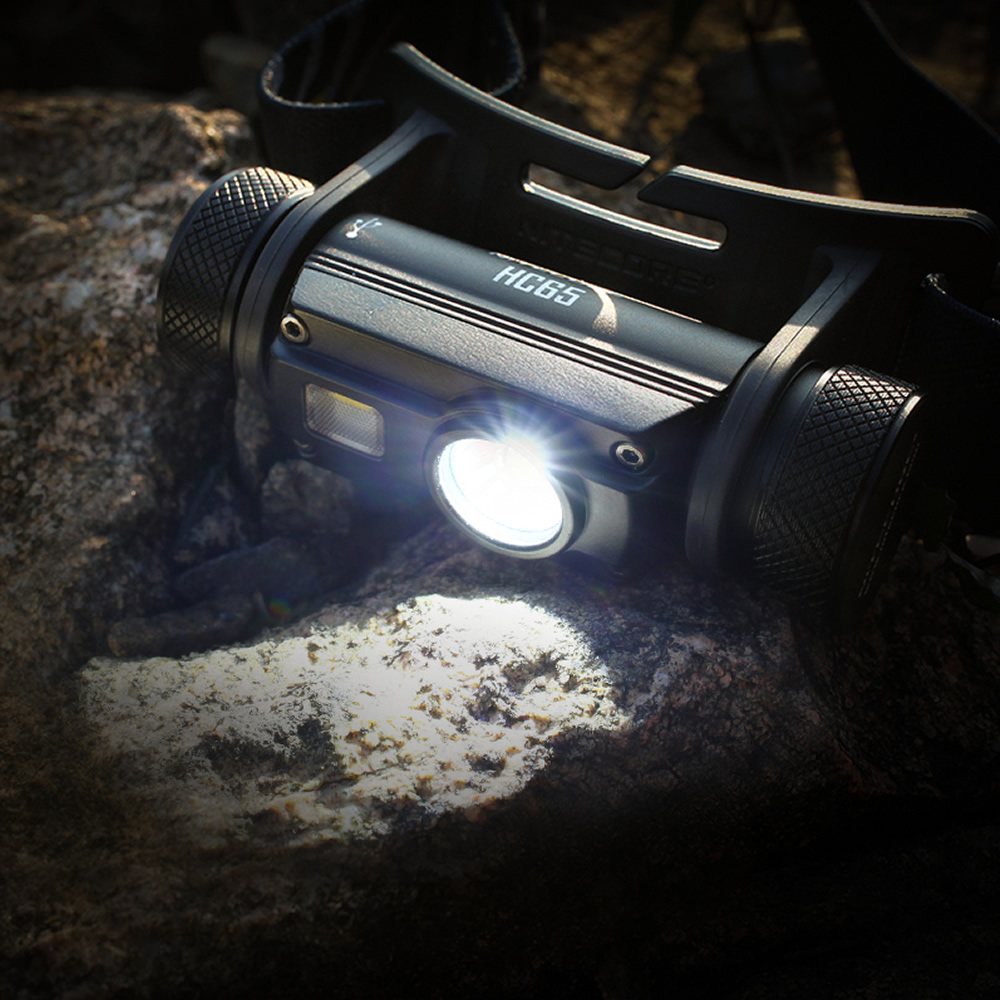 Image 4 - NITECORE HC65 headlight CREE XM L2 U2 1000 Lumes rechargeable flashlight waterproof camping trip 18650 battery-in Headlamps from Lights & Lighting