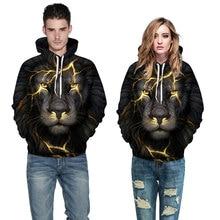 Mr.1991INC New Fashion Men/Women 3d Sweatshirts Print Golden Lightning Lion Hooded Hoodies Thin Hoody Tracksuits Tops