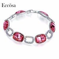 ECCOSA Wedding Jewelry Accessories Collection Charm Bracelets Bangles Precious Stone Geometric Bracelet Crystal From Swarovski