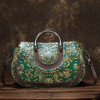2018 женские сумки модные ретро технологии женские сумки Теплые новые кожаные новый тиснением сумки женские сумки дизайнер