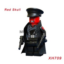 Xh709 Single Sale Legoing Super Heroes Avengers: Infinity War Red Skull Thanos Iron Man Star Wars Building Blocks Children Toys(China)