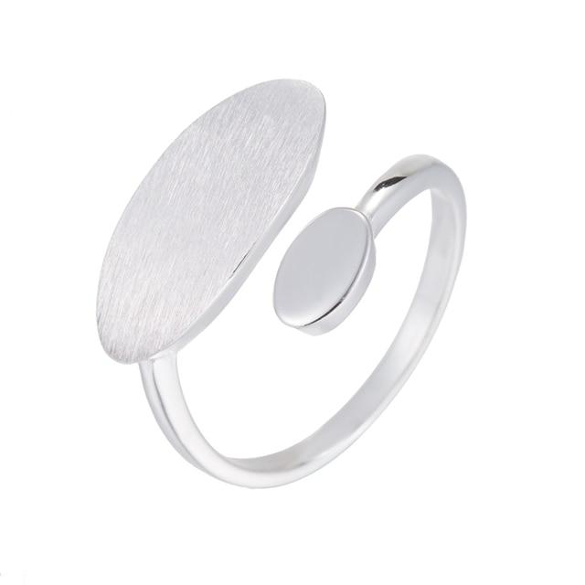 Hfarich 925 Sterling Silver Rings for Women Adjustable Geometric Oval Rings Boho