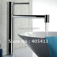 Free Shipping 100 Brass Single Handle Bathroom Sink Faucet Hot And Cool Rotating Basin Mixer Tap