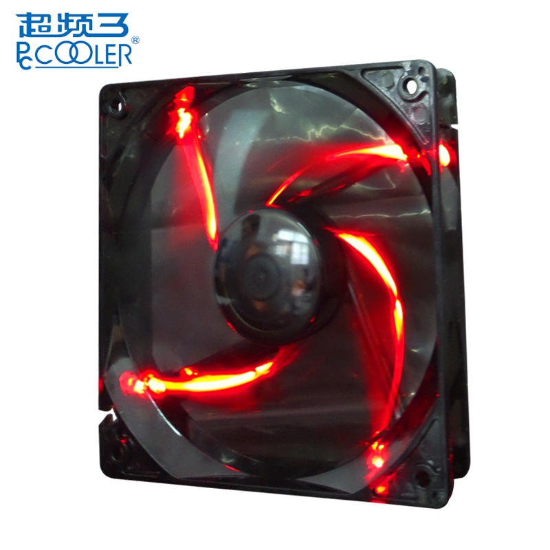 PCCOOLER 3 Pin PC 12cm CPU Cooling Fans Multiple Colors Colorful LED 120mm Silent Cooling Fan Computer Case Components Cooler