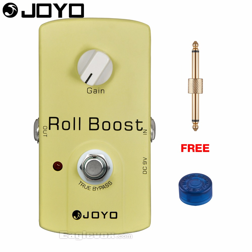 JOYO JF-38 Roll Boost Electric Guitar Effect Pedal True Bypass with Free Connector and Footswitch Topper mooer hustle drive distortion guitar effect pedal micro pedal true bypass effects with free connector and footswitch topper