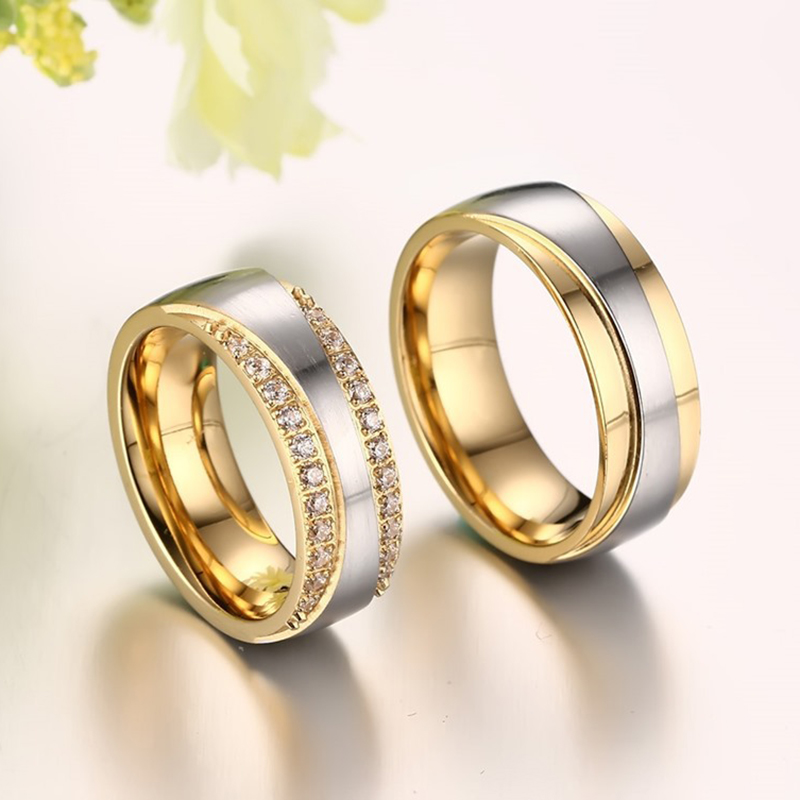 2016 New Couple Ring for Women and Men Love Ring Quality Stainless - Fashion Jewelry - Photo 2