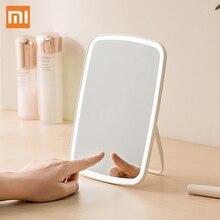 Xiaomi Mijia интеллектуальные портативное зеркало для макияжа настольный свет Портативный складная лампа зеркало общежитии desktop