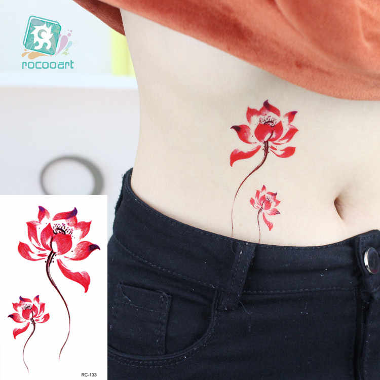 Rocooart Cool Temporary Tattoo sticker on Hand Sex beauty Flash Tatoo rabbit Black bird Design Fake Body art Taty Men Women