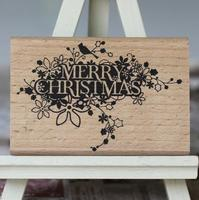 Wood Rubber Personalized Custom Stamps Signee Christmas Decorative Invitation Seal Logo DIY Greeting Card Wedding Stamp