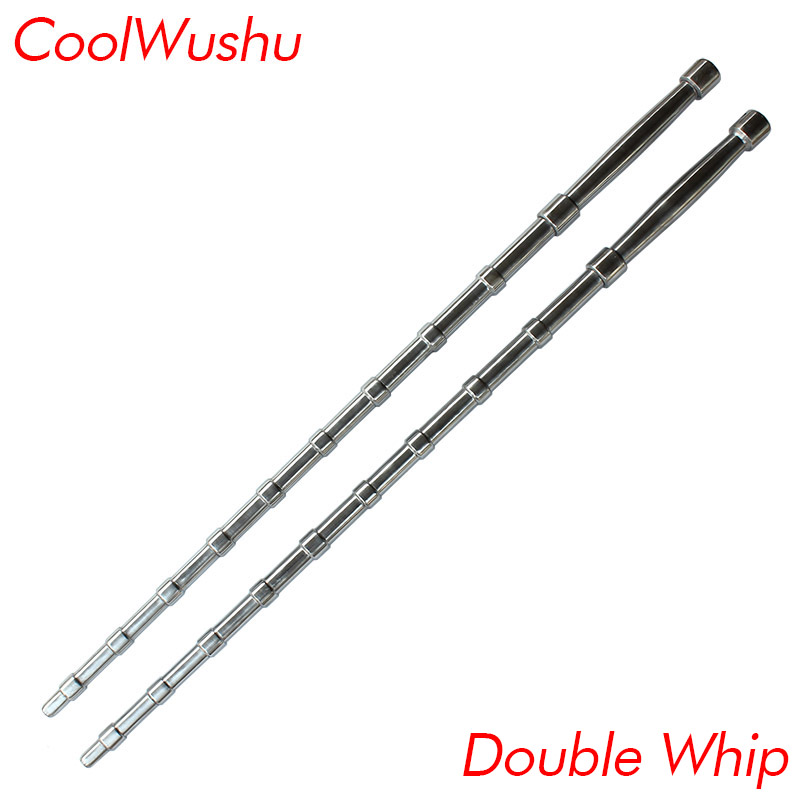 Martial art Double whip wushu Self-defense weapon chinese kung fu Portable vehicle Stainless steel Home Defense send bag 3pcs set learning wing chun chinese kung fu book learn chinese action chinese culture books wushu