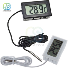 LCD Digital Thermometer Fridge Freezer Thermometer Thermograph for Refrigerator Temperature Meter -50~110 Degree Probe 1/2 Meter