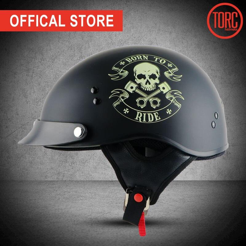 TORC мотоциклдік дулыға classic harley helemet vespa vintage жазғы жарты дулыға jet retro capacete casque мото дулыға DOT T55.02