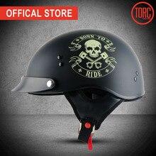 ФОТО torc motorcycle helmet classic harley helemet vespa vintage summer half helmet jet retro capacete casque moto helmet dot t55.02