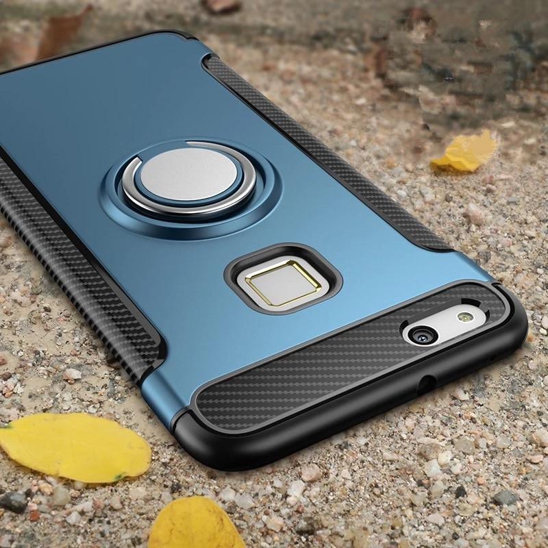 Olaf Untuk Huawei P10 Lite kasus Robot Armor Cincin Kickstand Karet - Aksesori dan suku cadang ponsel - Foto 6