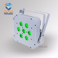 Rasha Factory Price 7pcs 15W 5in1 RGBAW Non Wireless LED Flat Par Profile LED Flat Slim