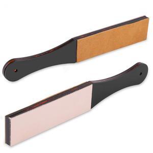 Кожаный ремешок для ручного бритья для мужчин, точилка для ножей, двойное лезвие, прямой страз, нож для парикмахера, бритвенный нож