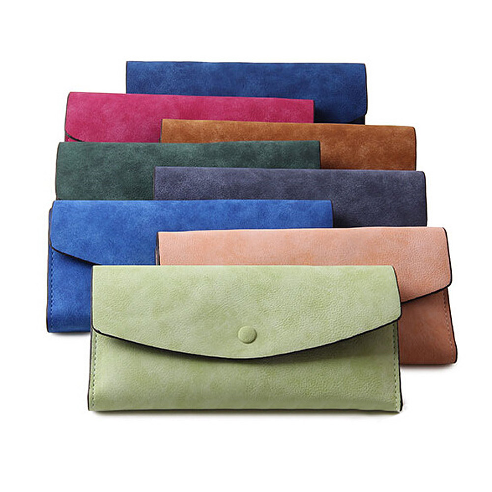 New Envelope Clutch Bag Pen Holder Women PU Leather Wallets Wallet Coin Purse Phone Bags ETS88
