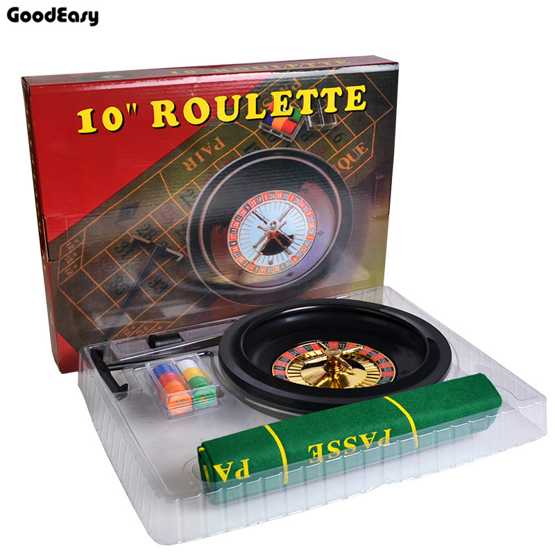10'' Roulette Poker Chips Set Roulette & 60pcs Small Poker Chips & Table Cloth & Chips Collecting Rake Fun Leisure Borad Games lucky shot drinking roulette game 6 cup set