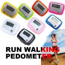 Цифровой ЖК-дисплей шаг счетчик Run ходьба шагомер расстояние калорий Мониторы высокое качество