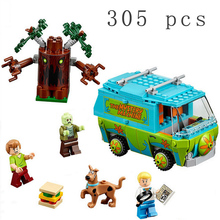2016 New Bela Scooby Doo Mystery Machine Bus Minifigurees Building Block Minifiguress Toys 10430 Compatible Birthday Gifts