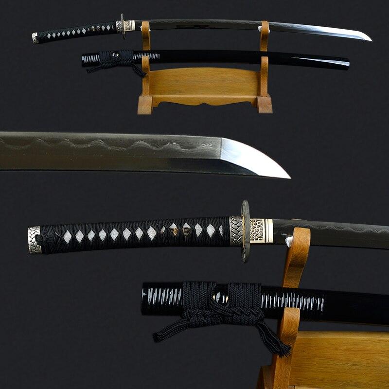 Sharp Spada di Metallo Decorativo Katana Piegato In Acciaio Temperato Argilla Katana Giapponese Completamente Fatto A Mano Tagliente Samurai Spada Espada
