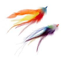 2 шт. 17,8 см крючок/трубка форель лосось Steelhead Щука мухи для рыбной ловли снасти инструмент для соленой воды пресноводный