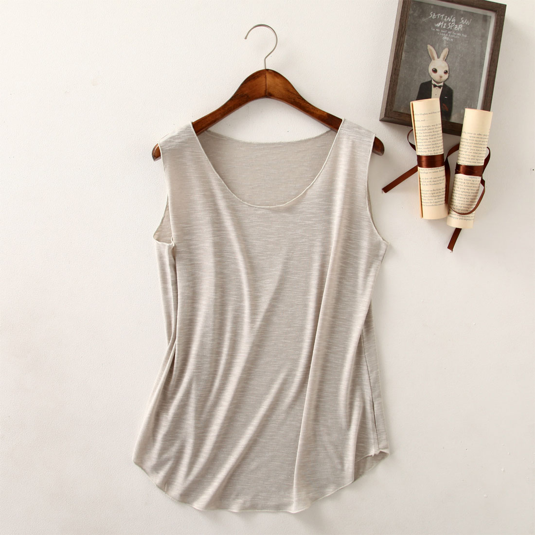 NEW Spring Summer New Tank Tops Women Sleeveless Round Neck Loose T Shirt Ladies Vest Singlets