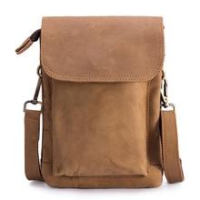 цена Genuine Leather Waist Bag Men Fanny Bum Hip Leg Pack Male Multifunction Men's Messenger Shoulder Crossbody Small Flap Bag Totes