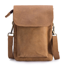Waist Bag Men Fanny Bum Hip Leg Pack Genuine Leather Male Multi-function Men's Messenger Shoulder Cross Body Small Flap Bag Tote