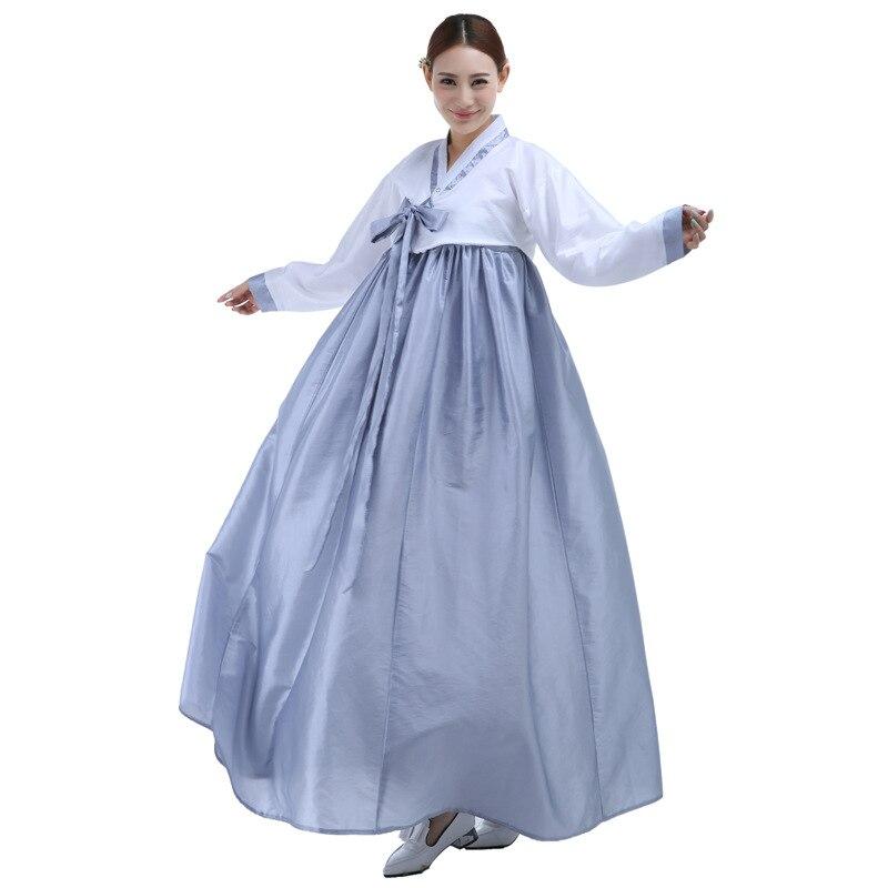 a754ebfd874 High Quality Long Sleeve Korean Tradition Dress Plus Size Colorful Women Korean  Hanbok Korean Ancient Costume Women Hanfu 17-in Asia   Pacific Islands ...