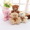 Nuevos Juguetes de peluche Oso de peluche de dibujos animados lindo bolso colgante llavero regalos de boda juguetes para los niños muñeca de la felpa mini pequeño oso TO77